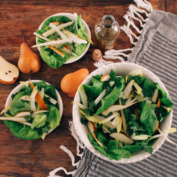 Salade Boston endives et poires