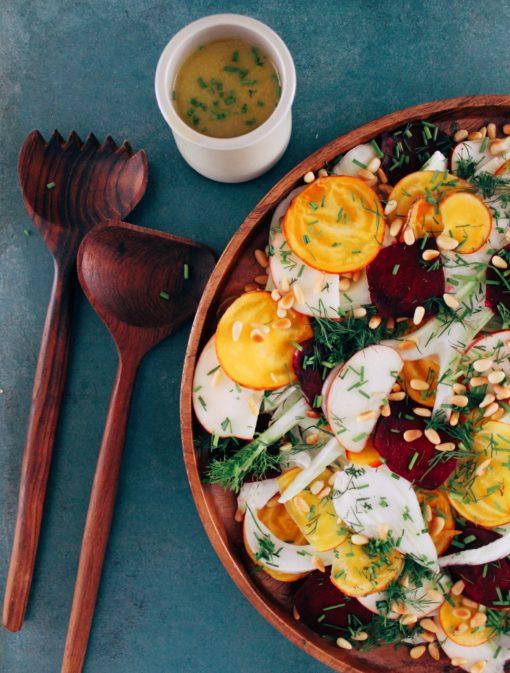Salade de fenouil, pommes et betteraves