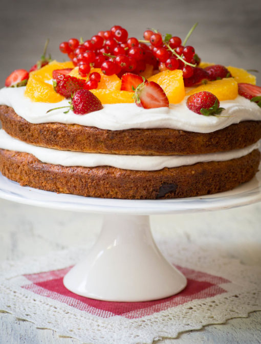 Gâteau aux carottes, au quinoa et orange