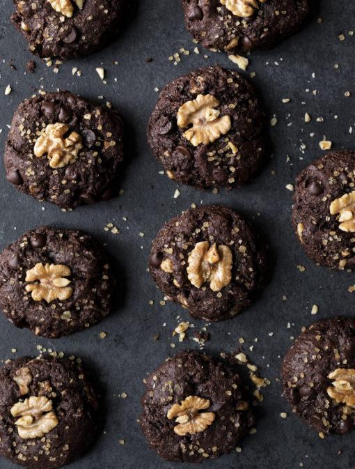 Biscuits au chocolat et aux noix de Grenoble