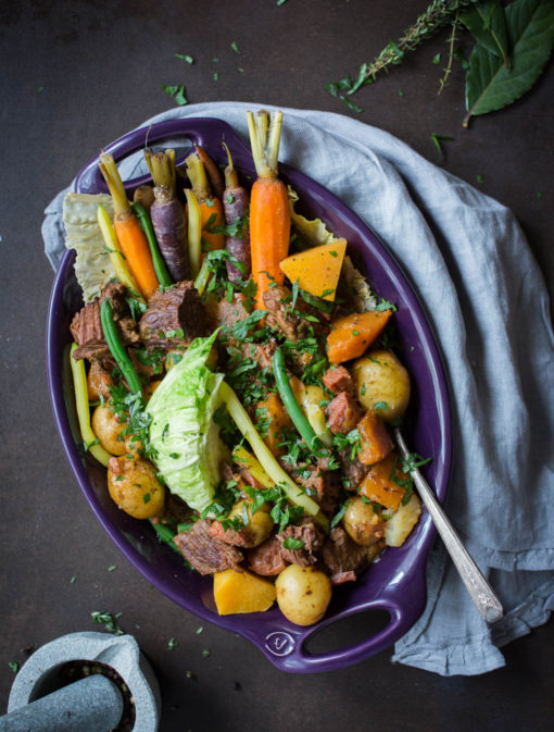 Bouilli de boeuf et de légumes