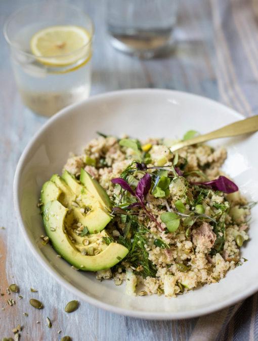 Salade minute de thon quinoa et pommes