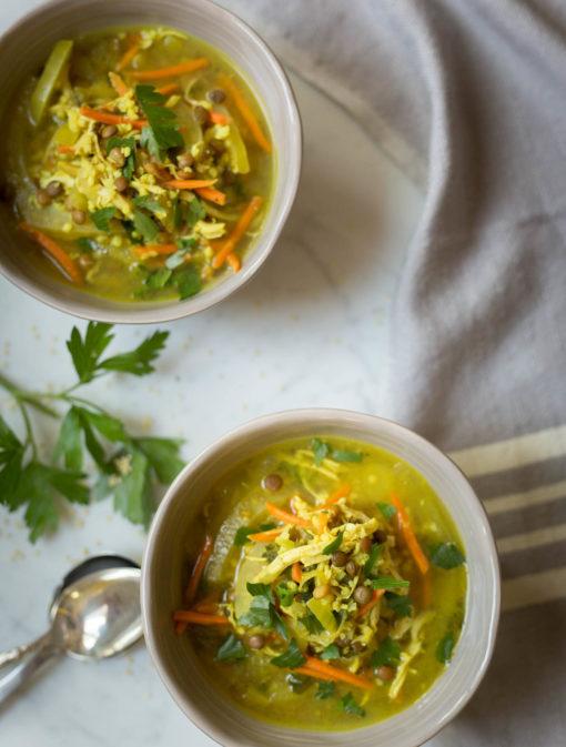 Soupe-repas poulet et millet