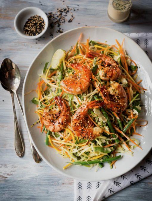 Salade asiatique aux crevettes