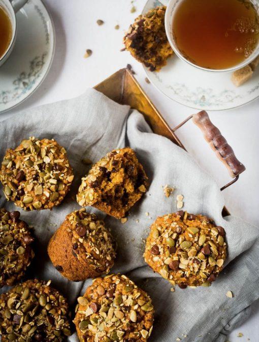 Muffins à la citrouille et au chocolat