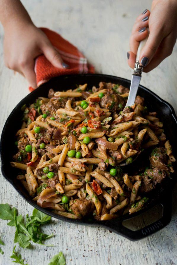 Penne à la saucisse italienne sans gluten
