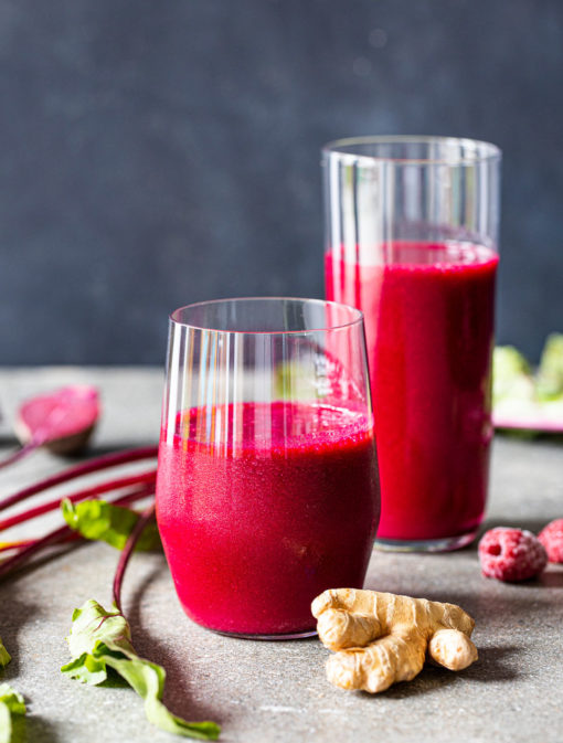 Jus betteraves et framboises