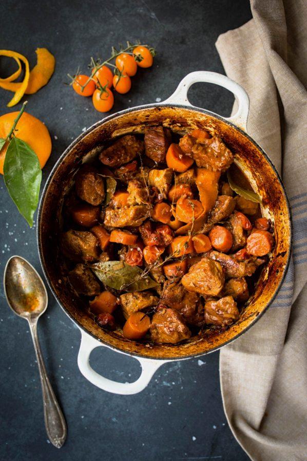 Veau mijoté aux carottes