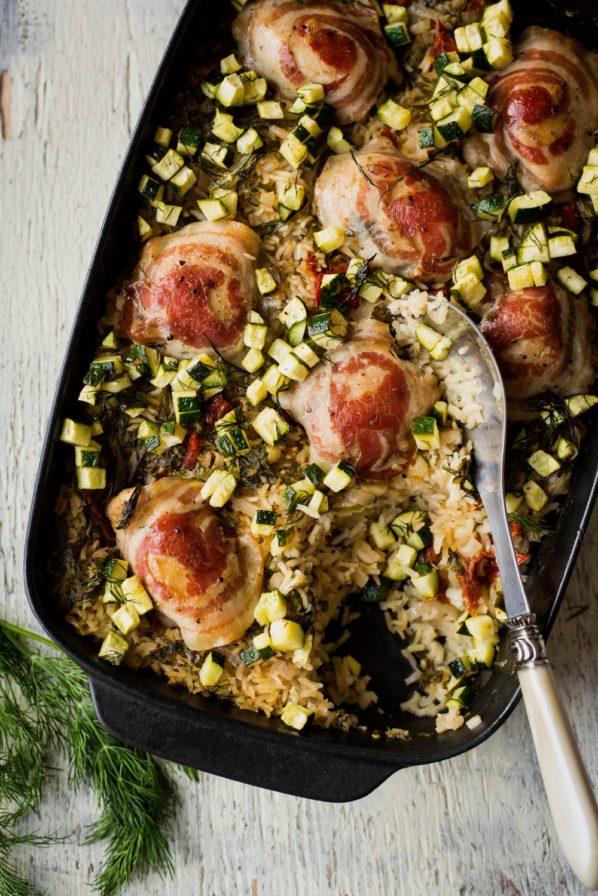 Casserole de riz et de poulet au four