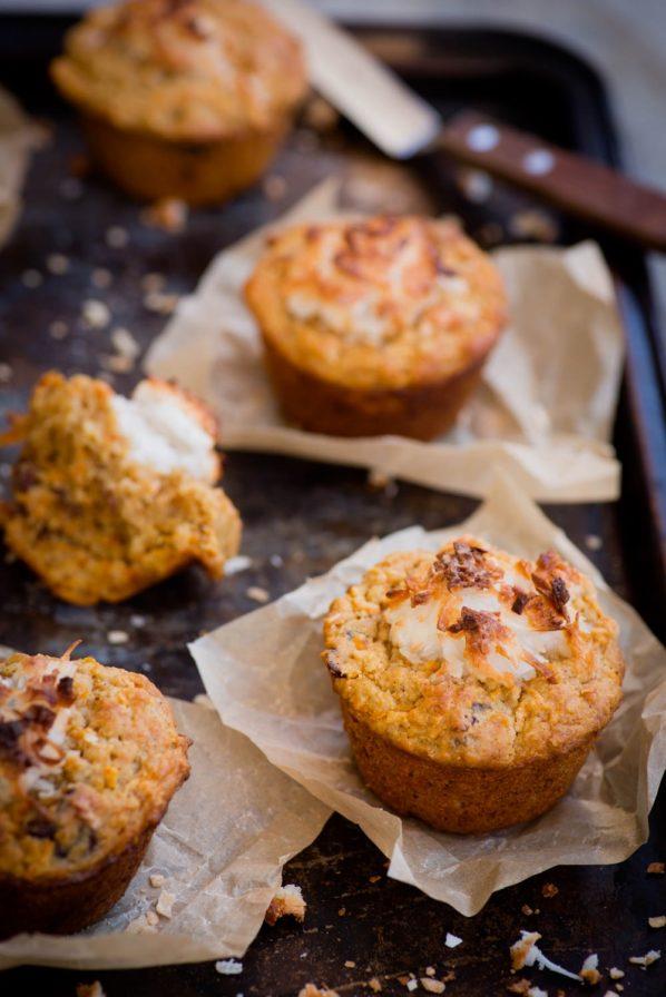 Muffins aux carottes et  dattes