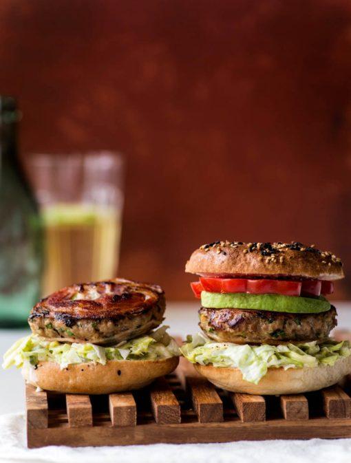 Hamburgers de dinde à la pancetta
