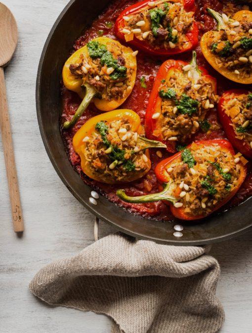 Poivrons farcis à la saucisse italienne