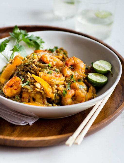 Riz épicé aux crevettes