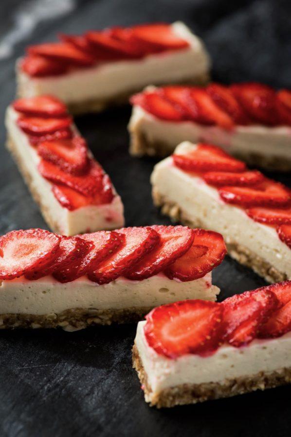 Barres fraises et lime sans cuisson