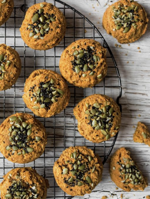 Biscuits à la citrouille et au sésame