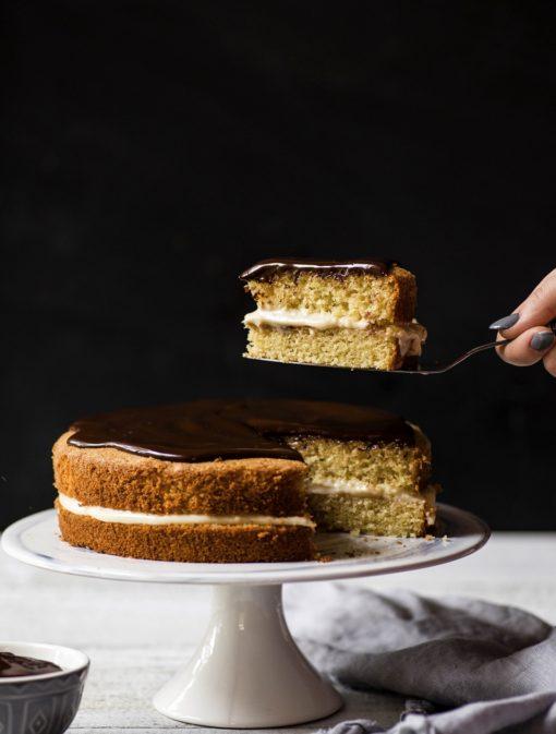 Gâteau Boston à la «crème pâtissière»