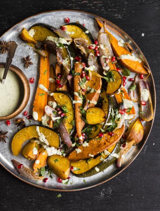 Légumes rôtis sauce au tahini