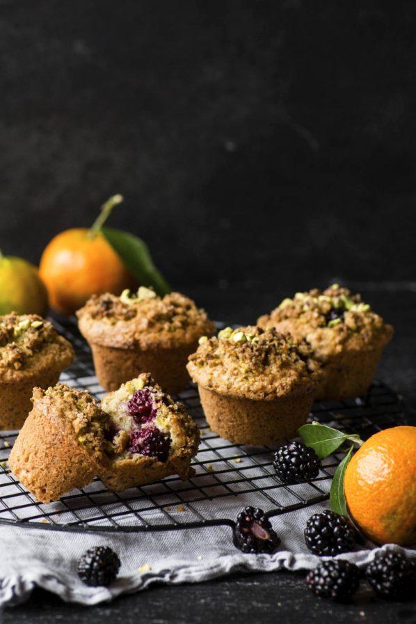 Muffins mûres et clémentine