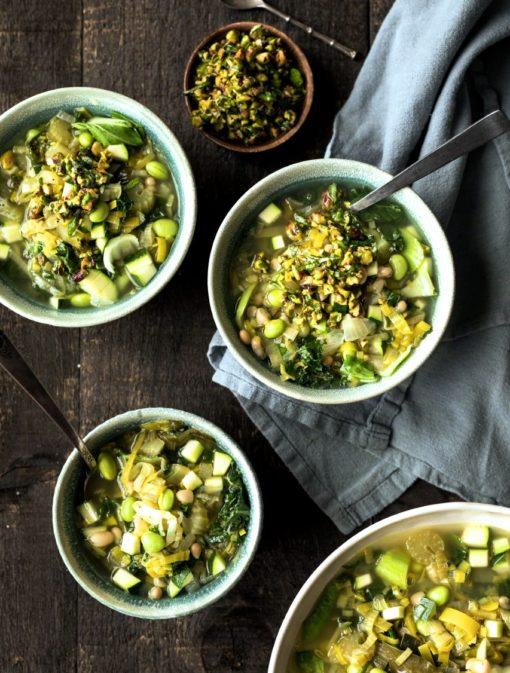 Soupe minestrone verte