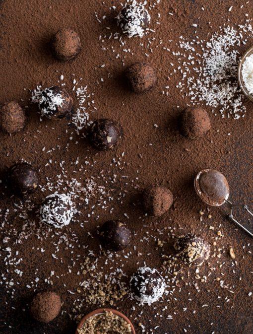 Boules d'énergie croquantes au cacao