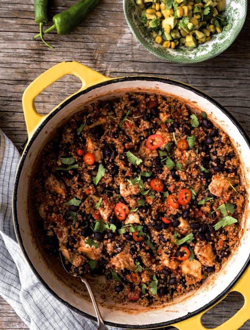 Casserole mexicaine «one pot» poulet et quinoa