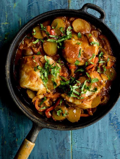 Casserole de poisson «One Pot» aux poivrons et tomates