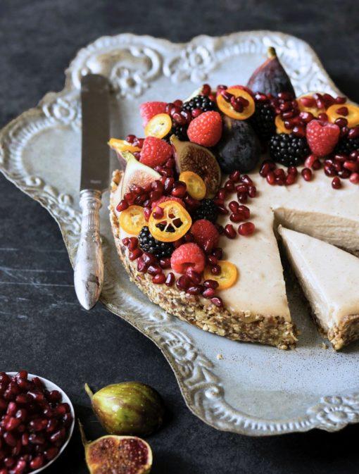 «Cheesecake» noix de cajou et érable sans cuisson