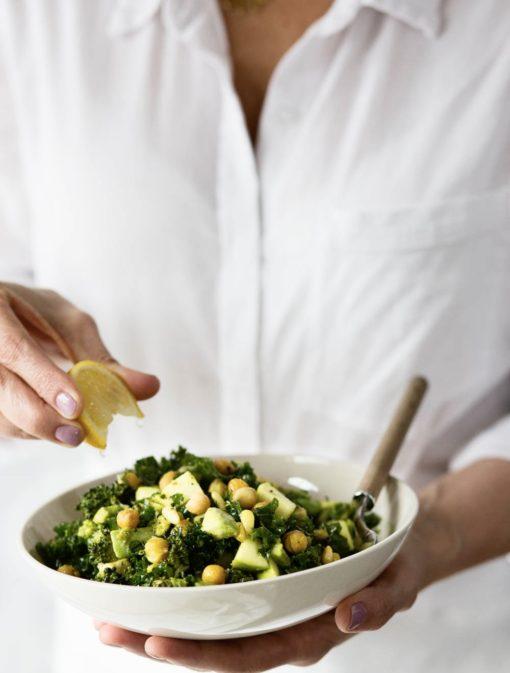 Salade de brocoli et pois chiches grillés