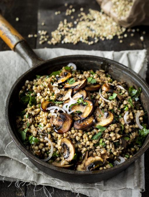Riz de sarrasin aux champignons