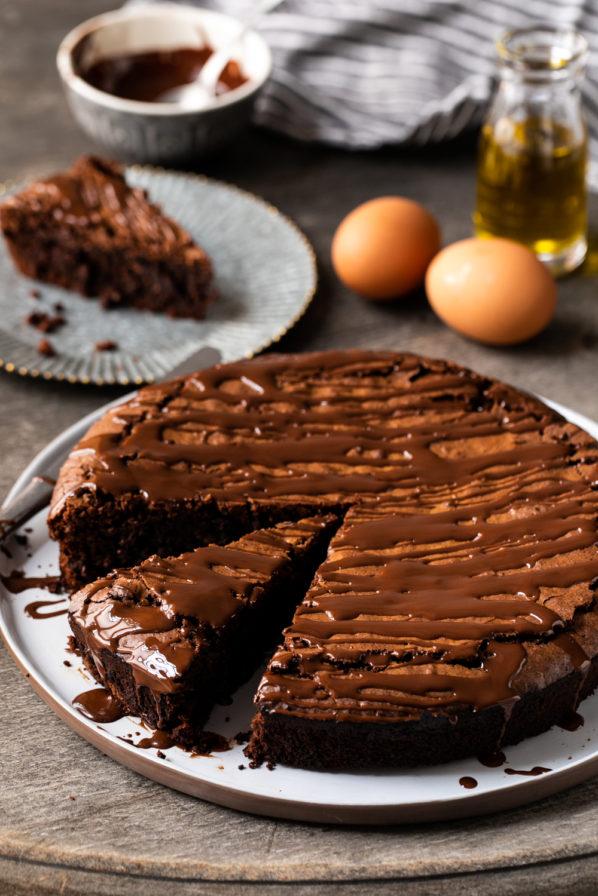 Gâteau chocolat et amandes «torta caprese»