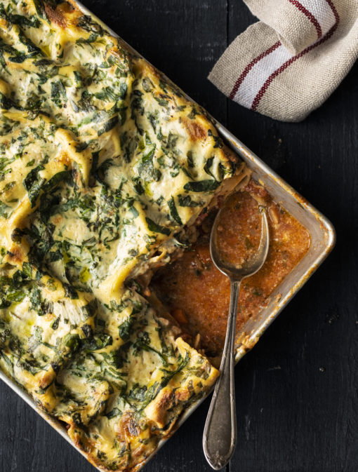 Lasagne bolognaise sans gluten et sans produits laitiers
