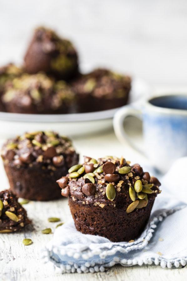 Muffins au chocolat et aux bananes