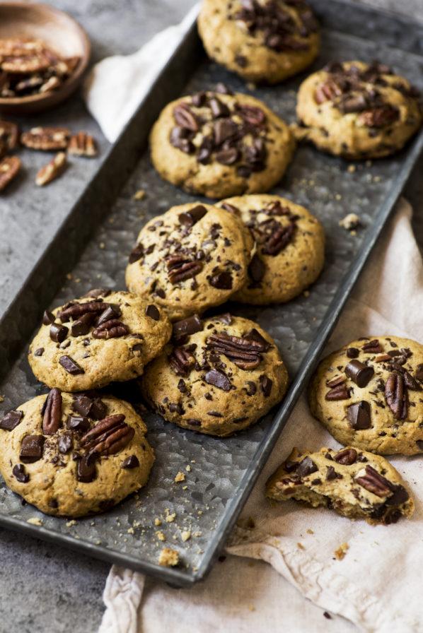 Biscuits aux pépites de chocolat et avocat