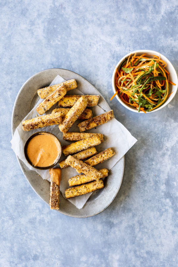 Bâtonnets de tofu frit