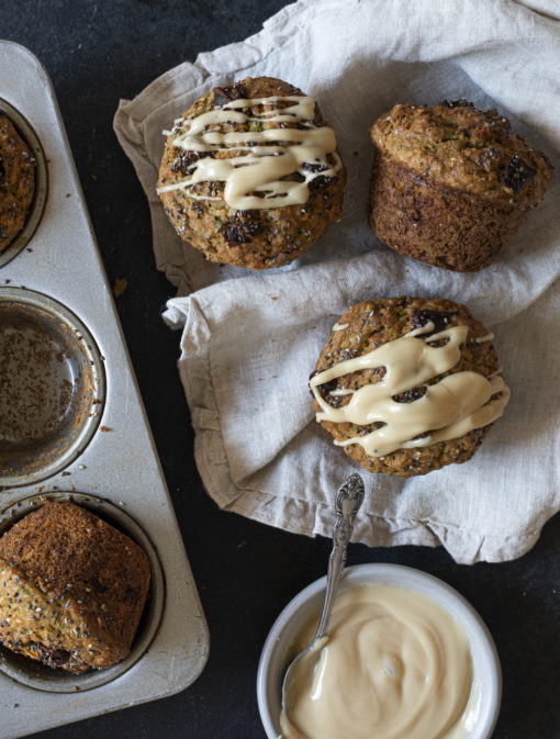 Muffins aux zucchinis et au beurre d'érable