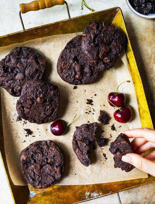 Biscuits choco-cerises