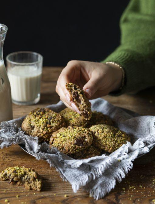 Biscuits choco-zucchinis et pistaches
