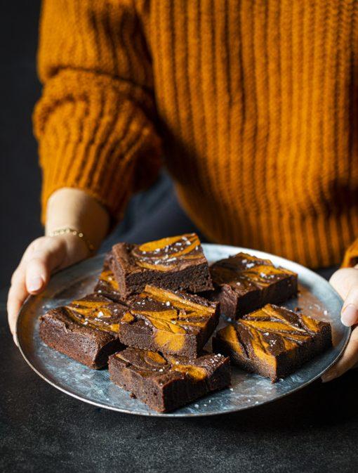 Brownies marbrés à la citrouille