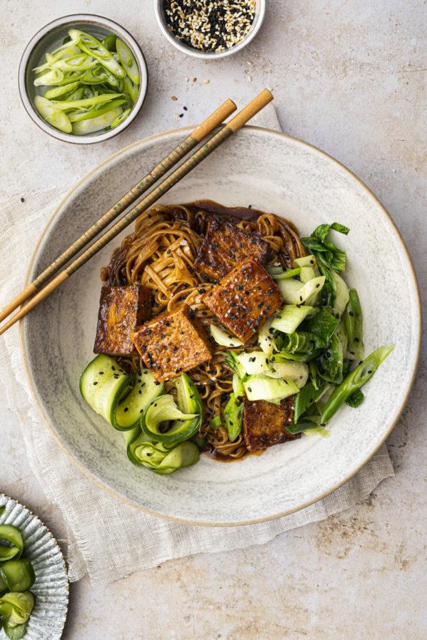 Nouilles asiatiques au tofu et à l'érable
