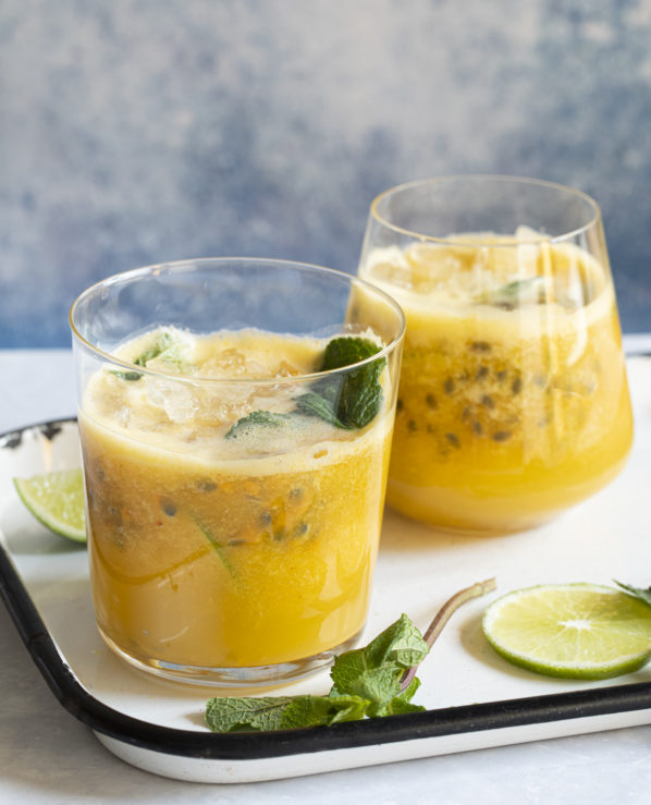 Mojito au fruit de la passion, gingembre et mangue