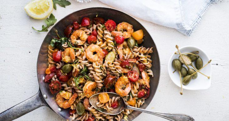 Des crevettes dans notre assiette!