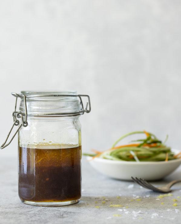 Vinaigrette à l'érable et au gingembre