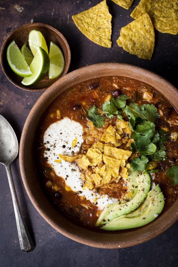 Soupe-repas mexicaine à la mijoteuse