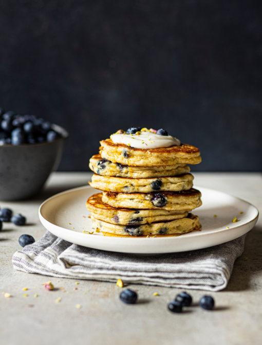 Pancakes moelleux aux bleuets