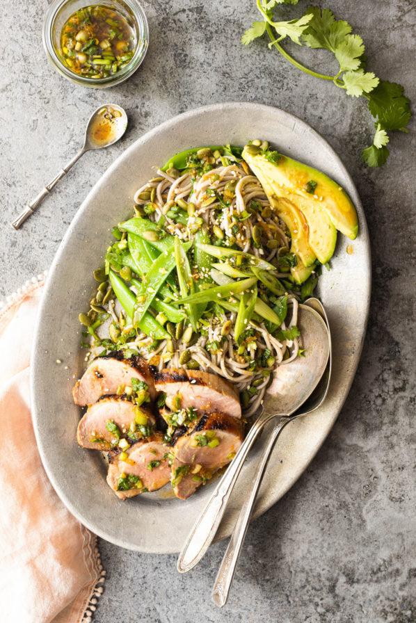 Salade asiatique au filet de porc